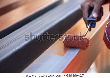 metal · pintura · trabajador · acero · tubo · atención · selectiva - foto stock © simazoran