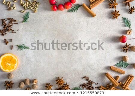 pain · d'épice · cookie · frontière · Noël · résumé · star - photo stock © mkucova