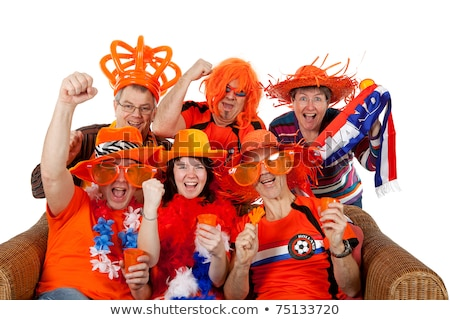 female Dutch soccer supporter Stock photo © ivonnewierink