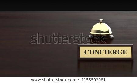 Stock fotó: Portás · felirat · luxus · hotel · üzlet · utazás