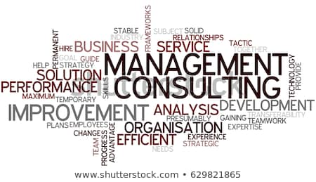 Stok fotoğraf: Consulting Word Cloud