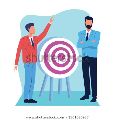 target icon avatar illustration design over a white background Stock photo © alexmillos