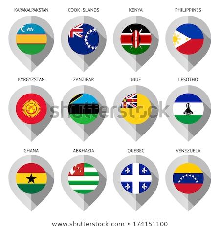 zászló · Kenya · kéz · szín · vidék · stílus - stock fotó © ecelop