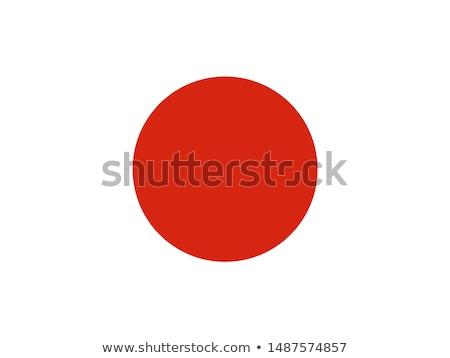 Japán · zászló · ikon · izolált · fehér · festmény - stock fotó © zeffss