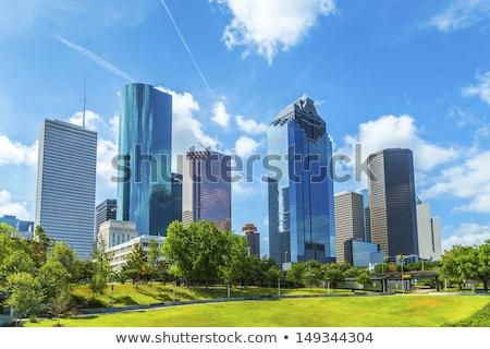 Sziluett Houston nappal Texas autó város Stock fotó © meinzahn