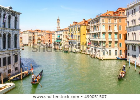 Gondolas moored by Saint Mark square  Stock photo © vwalakte