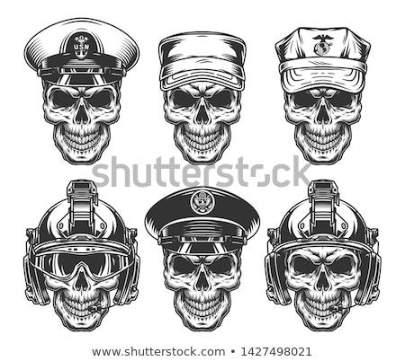 navy skull Stock photo © fmuqodas