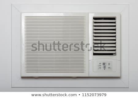 Janela ar condicionado desenho animado homem brisa tecnologia Foto stock © blamb