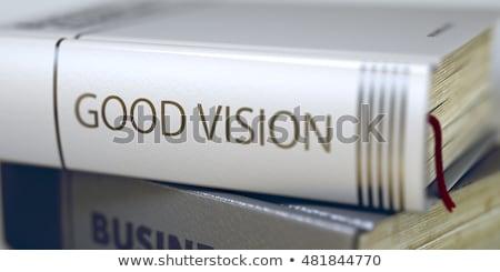 Goede ideeën titel boek innovatie Blauw Stockfoto © tashatuvango