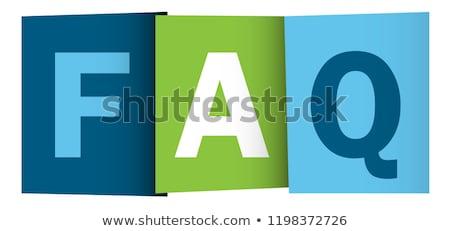 よくある質問 ボタン 文字 質問 3dのレンダリング コンピュータ ストックフォト © Koufax73