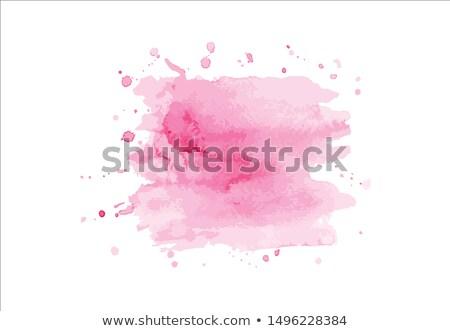 ストックフォト: 水彩画 · 国境 · 紙 · 抽象的な · デザイン · 塗料