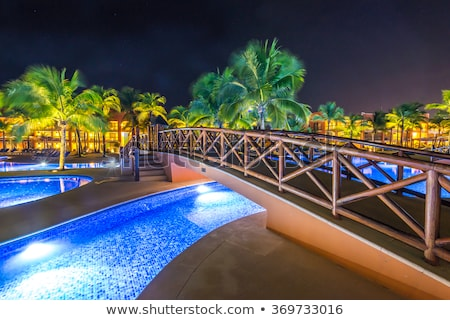 Hotel at night time Stock photo © Nejron
