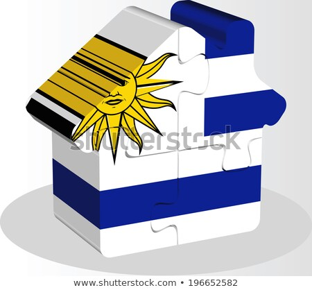house home icon with Uruguay flag in puzzle Stock photo © Istanbul2009
