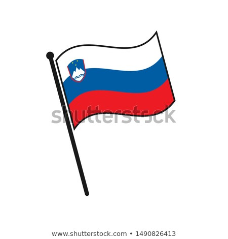 Slovenia Small Flag on a Map Background. Stock photo © tashatuvango