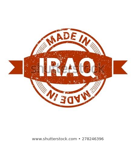 イラク 碑文 赤 孤立した 白 ストックフォト © tashatuvango