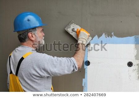 ストックフォト: 壁 · 絶縁 · クローズアップ · 層 · 石膏