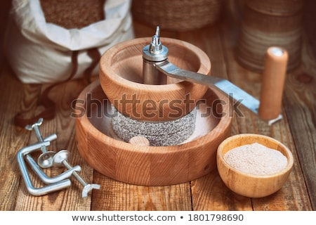 handling of solid stone grinder Stock photo © OleksandrO