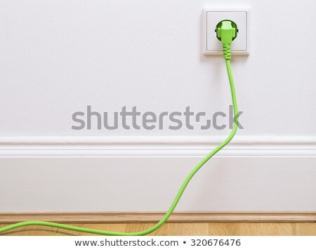 green socket on wall stock photo © w20er
