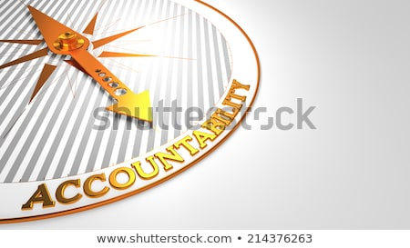 Competence on White with Golden Compass. Stock photo © tashatuvango
