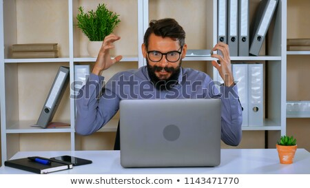 madman screaming out about business stock photo © Giulio_Fornasar