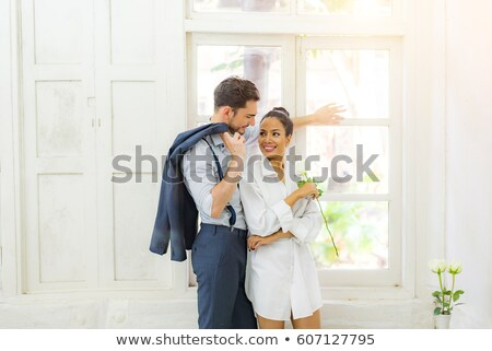two young women in luxury house interior stock photo © nejron