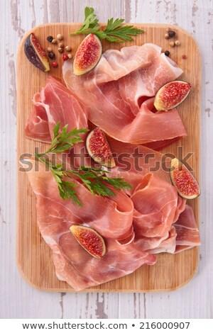 Stock photo: prosiutto ham, cured ham and fig