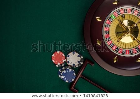 Rueda de la ruleta chips casino juego Foto stock © idesign