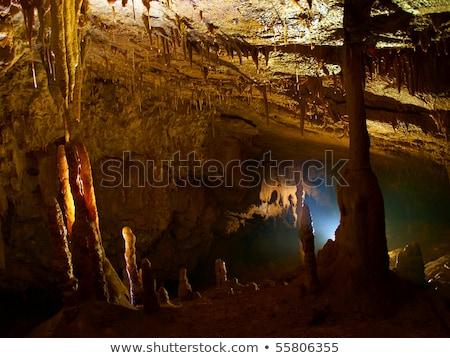 Grot ondergrondse rock steen oude toerisme Stockfoto © ankarb