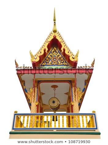 asia · drum · świątyni · Tajlandia · budynku · drewna - zdjęcia stock © yongkiet