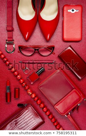 Buty szkła sieczka czerwony tkaniny sexy Zdjęcia stock © alekleks