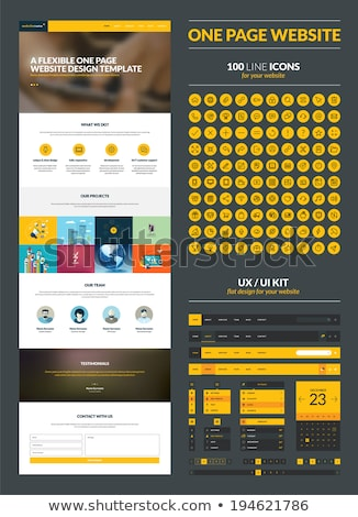 Stock photo: One page website flat UI design template.