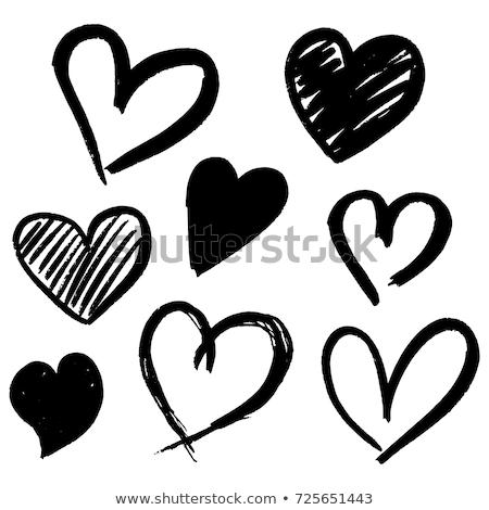 эскиз сердце Vintage стиль вектора Валентин Сток-фото © kali