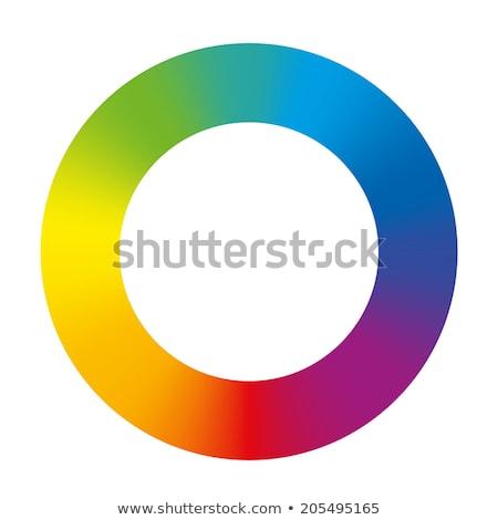 Rainbow color circle  Stock photo © redshinestudio