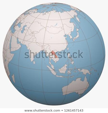 人 民主的な 共和国 ラオス 地図 市 ストックフォト © kiddaikiddee