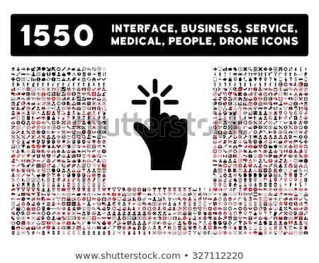 flat style white silhouette medical icons set Stock photo © TRIKONA
