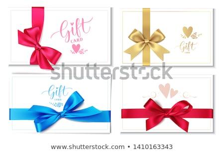 Валентин Подарочный сертификат бумаги сердце орнамент романтические Сток-фото © liliwhite