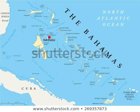Mapa Bahamas diferente cores símbolos branco Foto stock © mayboro1964