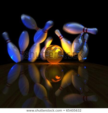 Bal staking corrigeren simulatie bowling Stockfoto © Antartis