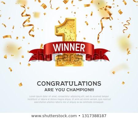 Zwycięzca liderem działalności konkurencja grupy znaki drogowe Zdjęcia stock © Lightsource