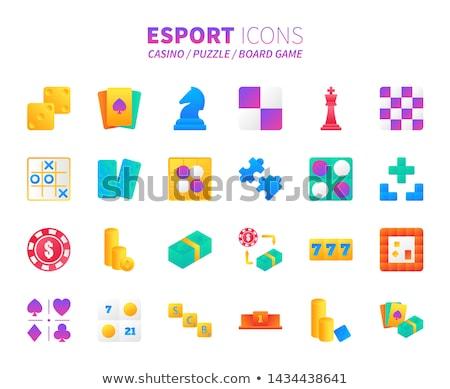 Diamond chess Knight card, vector illustration Stock photo © carodi
