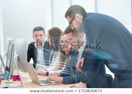 обсуждение · бизнеса · молодые · профессионалов · обсуждать - Сток-фото © pressmaster