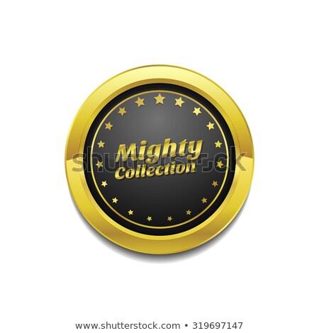 Machtig collectie gouden vector icon knop Stockfoto © rizwanali3d