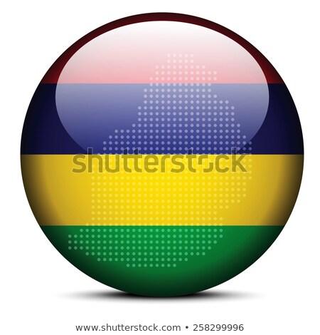 Pokaż kropka wzór banderą przycisk Mauritius Zdjęcia stock © Istanbul2009