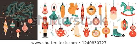 Ijs cijfer kerstboom nieuwe jaren partij Stockfoto © 3dart