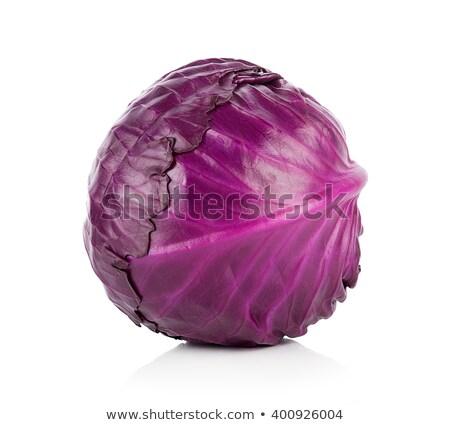 Stock fotó: Lila · káposzta · zöldség · tál