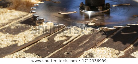 Fűrészmalom penge klasszikus vág fa ipar Stock fotó © rghenry
