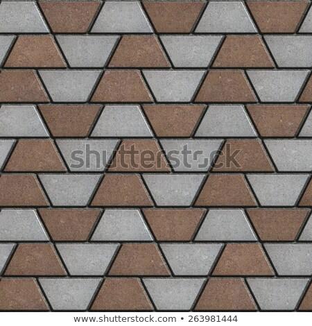 grijs · bruin · rechthoek · vorm · naadloos · textuur - stockfoto © tashatuvango
