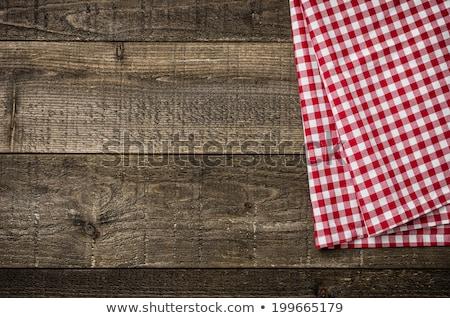 красный скатерть деревенский текстуры Сток-фото © Zerbor
