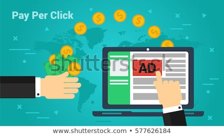 Stockfoto: Salaris · klikken · internet · reclame · model