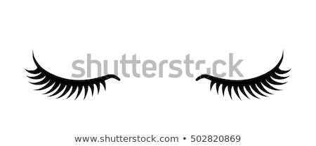 элегантный глаза девушки иллюстрация лице Сток-фото © silverrose1